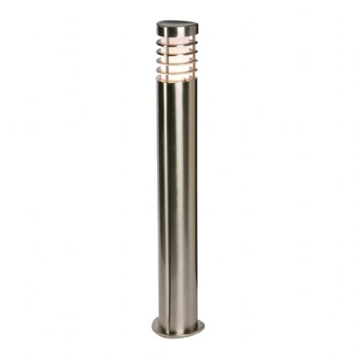 LED Brushed stainless steel & frosted Polycarbonate Bollard 13799 by Endon
